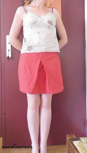 jupe à plis devant