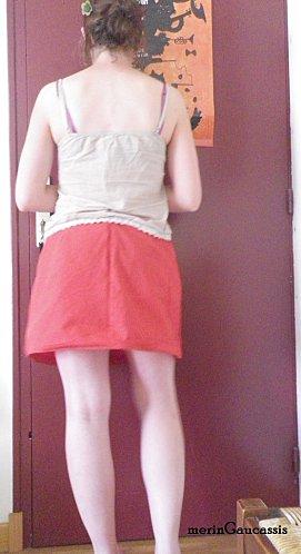 jupe à plis dos