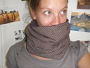 snood à pois1