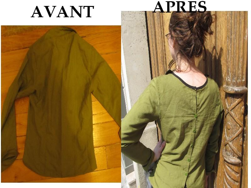 Extrem Working girl ou une idée pour customiser une chemise.. FF93