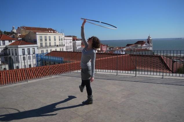 short hula hoop