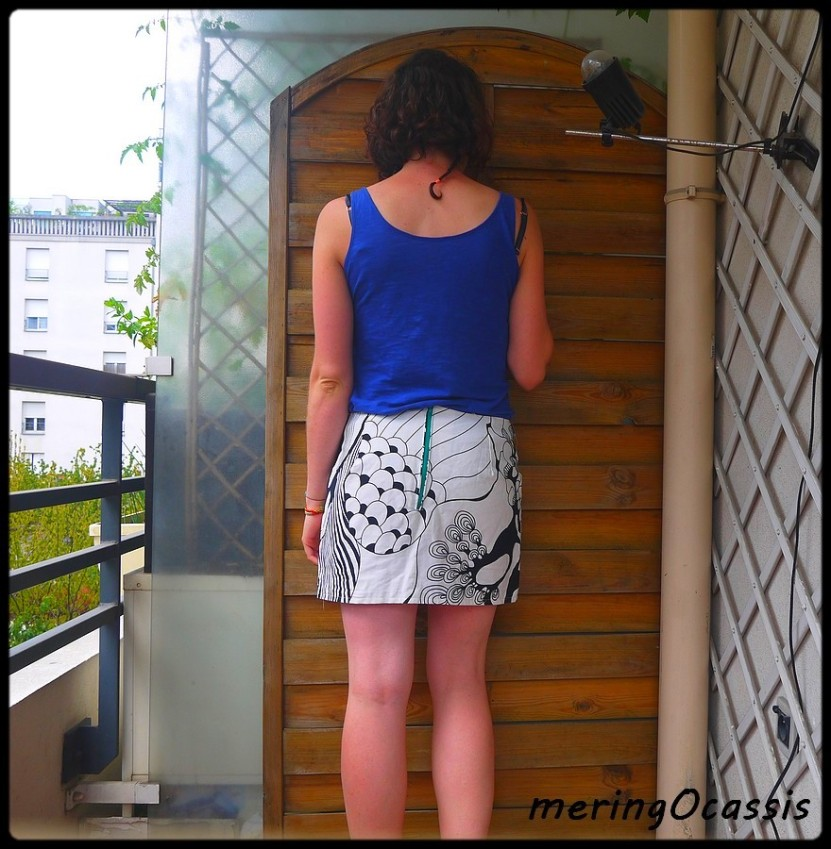 mini jupe dos
