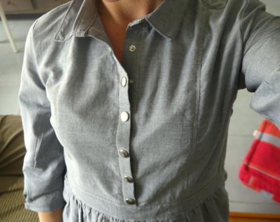 robe chemise zoom